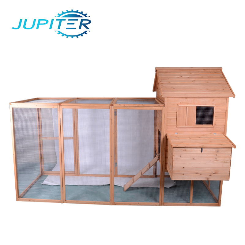 Waterproof ladder-frame industrial mobile large run wooden chicken coop