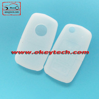 Okeytech silicone key cover VW 3 buttons silicone car key cover for silicone car key protective cover