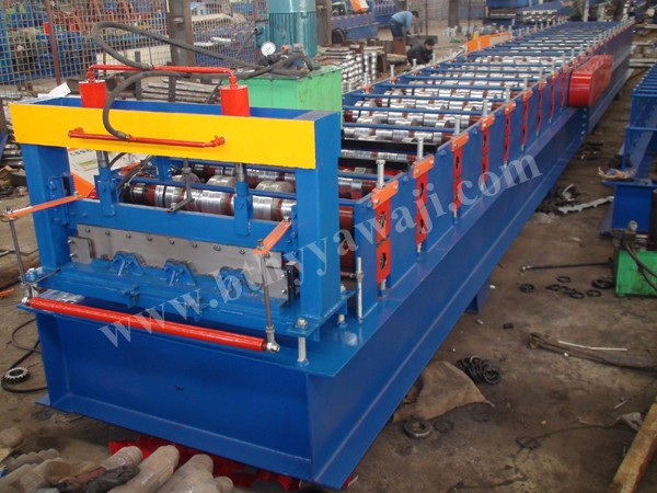 The most popular floor decking roll making machine cold metal roll forming machine