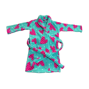 household flannel bathrobe girls pink robes kids holiday sleepwear pajamas