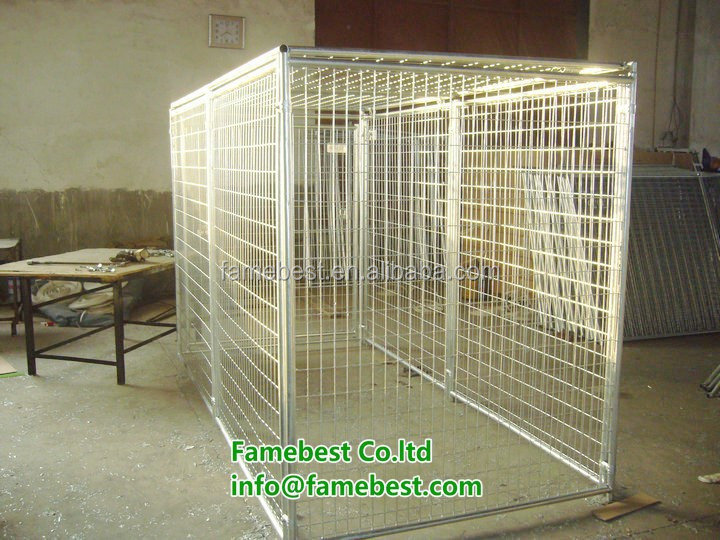 Metal pet fences grid galvanized portable dog kennels welded mesh 5x10x6ft
