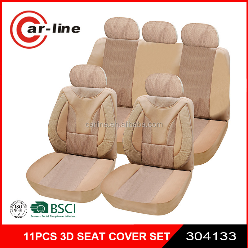 11PCS 3D LUXURY CAR SEAT COVER FOR HONDA