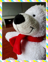 Mini Teddy Bear Wearing A Fashionable Hats Safe Plush Toys For Baby