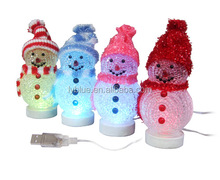USB Christmas tree colorful snowman night light