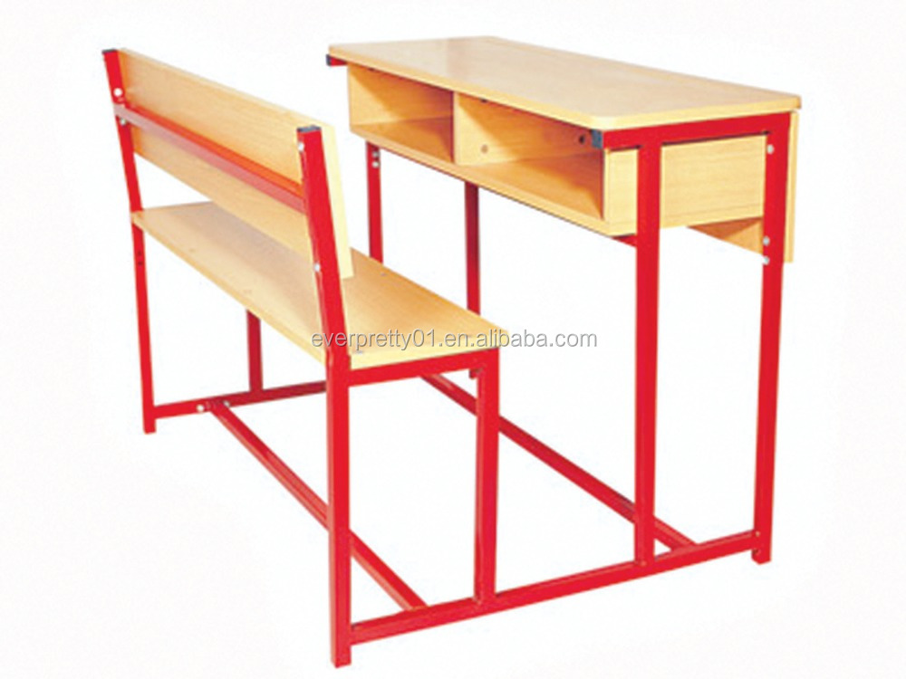 Student Desk and Bench Classroom Wooden Bench Set