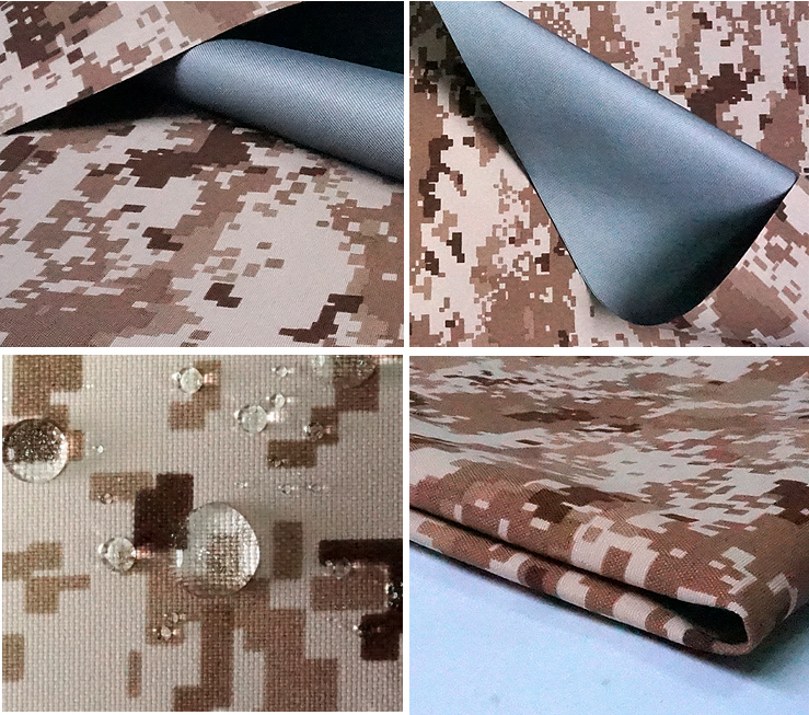 Wholesale polyester camouflage textile waterproof windproof taffeta army military fabric