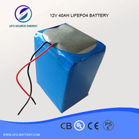 shenzhen lifepo4 battery maufacture deep Cycle 12v 40Ah power packs for booster scrooters and solar LED light