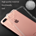 DFIFAN transparent shock resistant mobile cover for iphone 7 plus cases, gasbag design for iphone 7 plus clear case