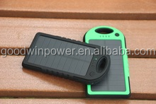 Mobile Power Pack with LED flashlight digital camera,solar charger for cell phone portable, slim