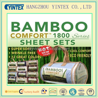BAMBOO Hotel Comfort Bed Sheet Set 1800 series QUEEN size w/ 12 assorted colors