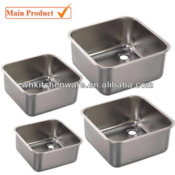Used Commercial Kitchen Stainless Steel Sinks Square Size
