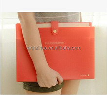 Colorful Clear PP Plastic drawer type file bag/holder with player for customized