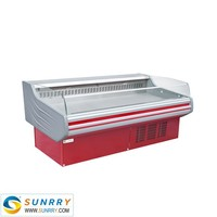 New design supermarket fridge used meat display freezer for sale in factory price (SUNRRY SY-FMS1500W)
