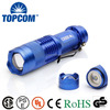SK68 Aluminim Blue Color Kids Rechargeable MINI Flashlight Torch For Promotional