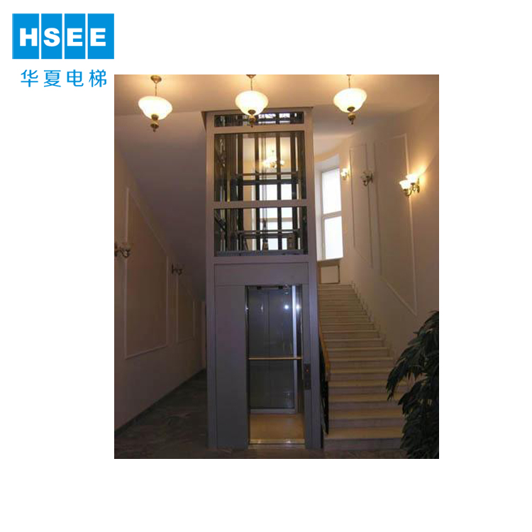 Four Sides Glass Cabin 250~400kg Small Home Elevator