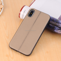 New arrivals 2018 mobile accessories Parallel lines design for iphone X case leather,hot for iphone X case luxury pu leather