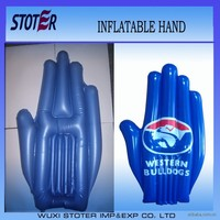 Inflatable hand for promotion , promotional inflatable hand with logo for advertisement