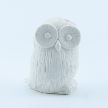New product lovely white ceramic owl for sale