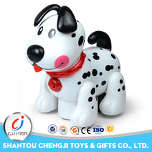 Funny remote control robot toy small plastic dog figurines with sound