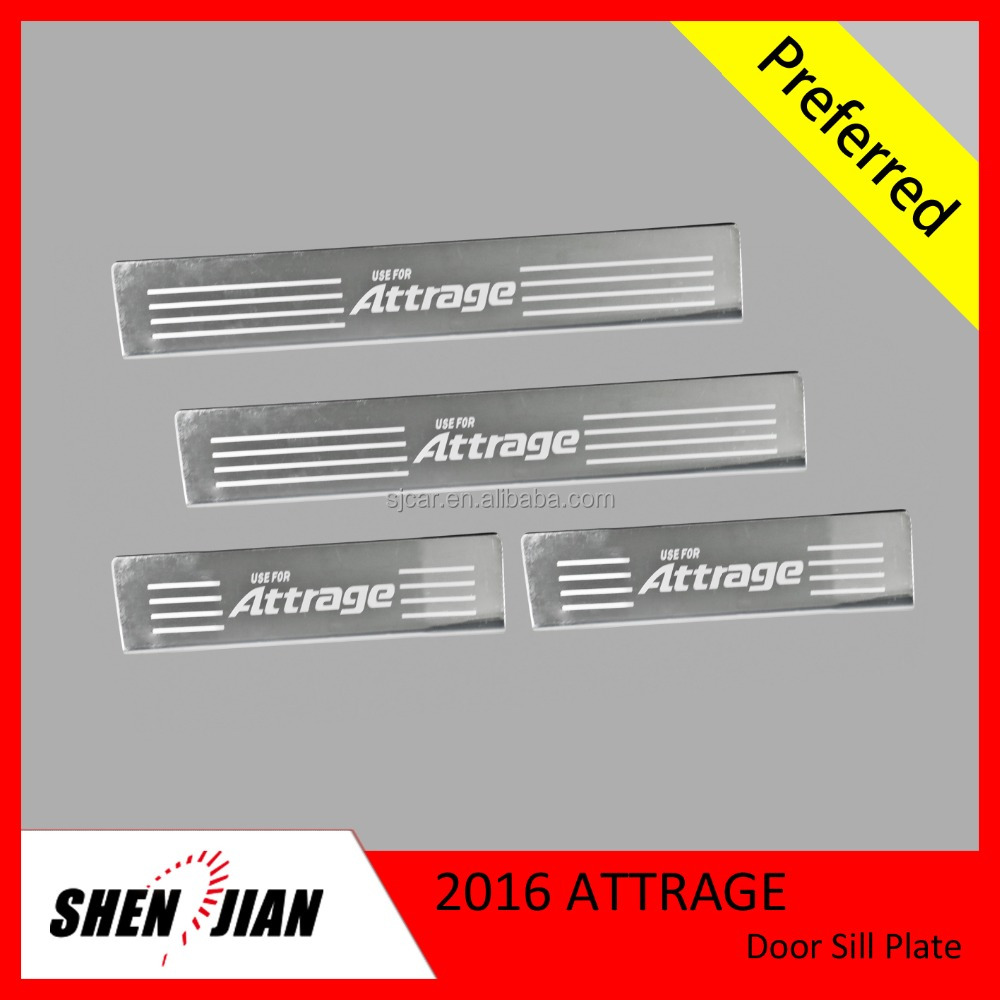 High Quality Car Exterior Accessories Stainless Steel Car Door Sill Scuff Plate For Attrage 2016