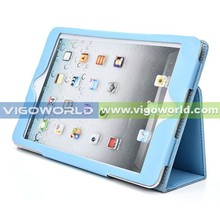For iPad mini 3 leather case, in good price stand tablet leather case for iPad mini 2