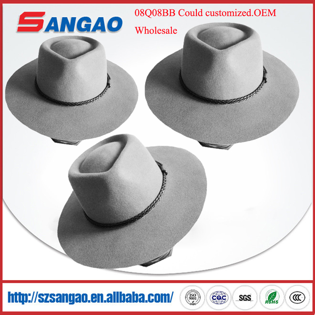 wholesale men wool felt fedora hat kid rock for women and could custom with camouflage style