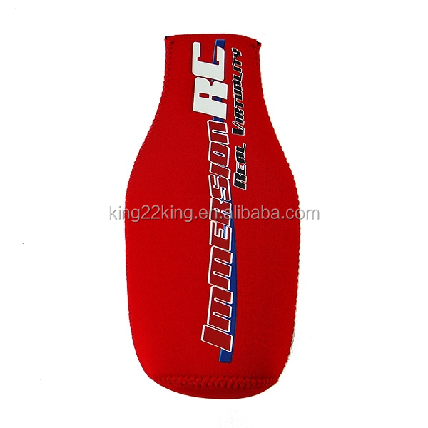 Neoprene Zip Stubby Bottle Holder/Single Beer Bottle Cooler