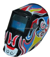 colour customize chinese opera facial mask alike soft texture auto darkening welding helmet