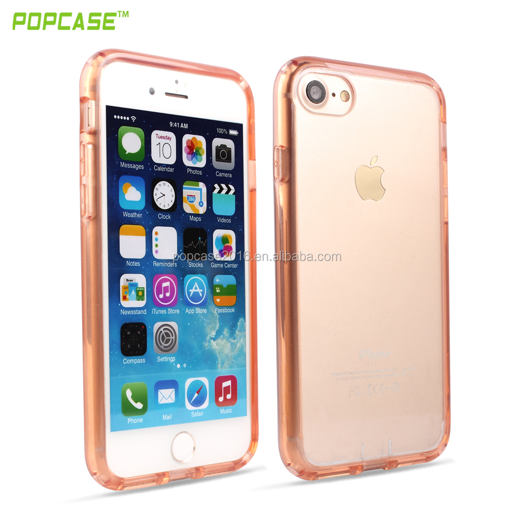 Clear Crystal PC layer and TPU Cellphone Case for I Phone 7 and I Phone 7 Plus, high quality patent product !!