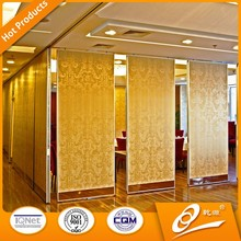 restaurant sound proof movable partition wall,sound acoustic folding movable parittion