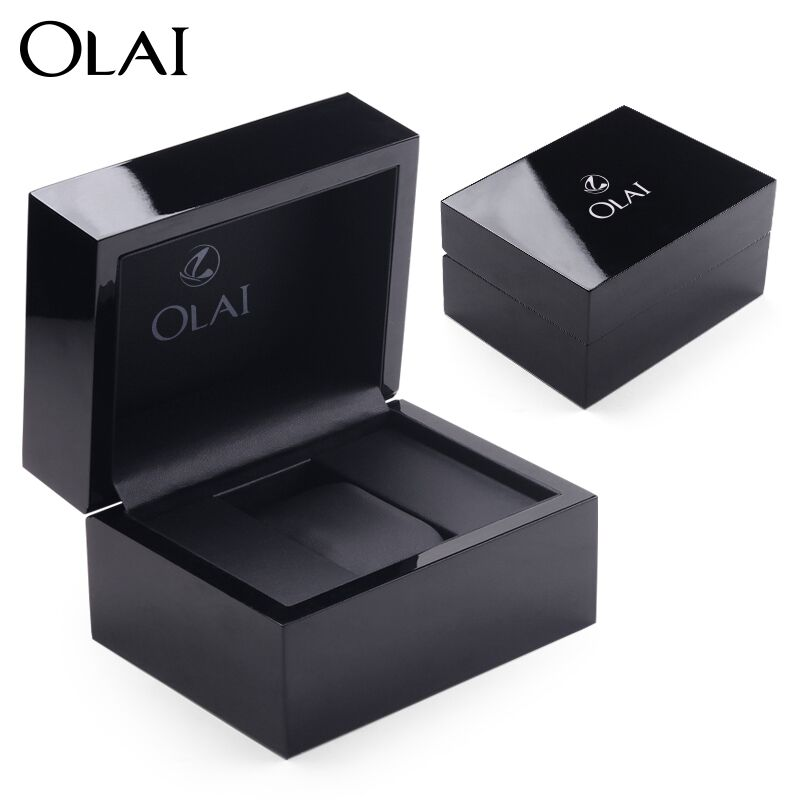 2018 Wholesale high and custom black branded luxury piano wooden watch packing box