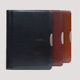 A4 Leather Conference Folder Zipper Portfolio Document Holder with calculator