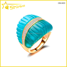 stylish turquoise wholesale women dubai gold ring designs