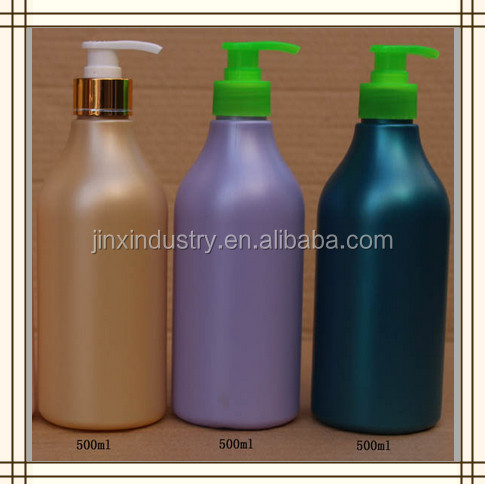 500ml recycled Plastic HDPE empty spray bottle or snap bottle for cosmetic,washing&cleaning