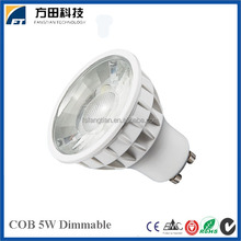 Low Price Plastic Aluminum 5W COB Dimmable GU10 led spotlight bulb