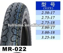 Motorcycle tyre and tube 2.75-17