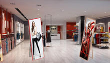 Commercial indoor Advertising Display LED Illuminated Crystal Acrylic Magnetic Open Poster Insert LED Light Frame