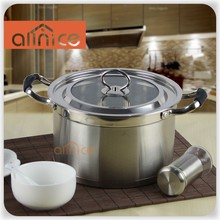 Oven Safe Capsulated Bottom Kitchen Cookware Stock Pot Covered Suitable for Magnetic Induction