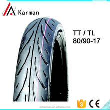 motorcycle tyre 80/90-17 with best quality