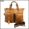 New mens full grain leather shoulder customized hand and bag