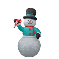 Christmas decorative Snowman Design With Candy Cane Inflatable