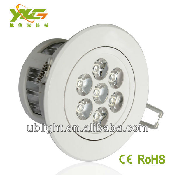 High quality 7W led ceilling light warm white living room round plastic ceiling light covers