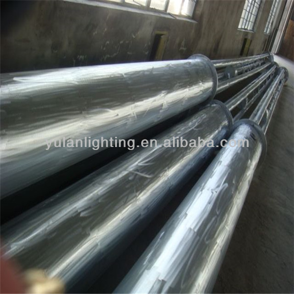 galvanized stainless solar street light stainless steel telescopic pole