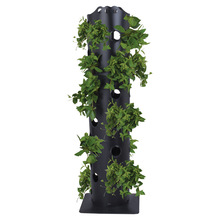 Factory direct sales outdoor indoor dual-use contracted plastic flower Black cylindrical garden flowers tower