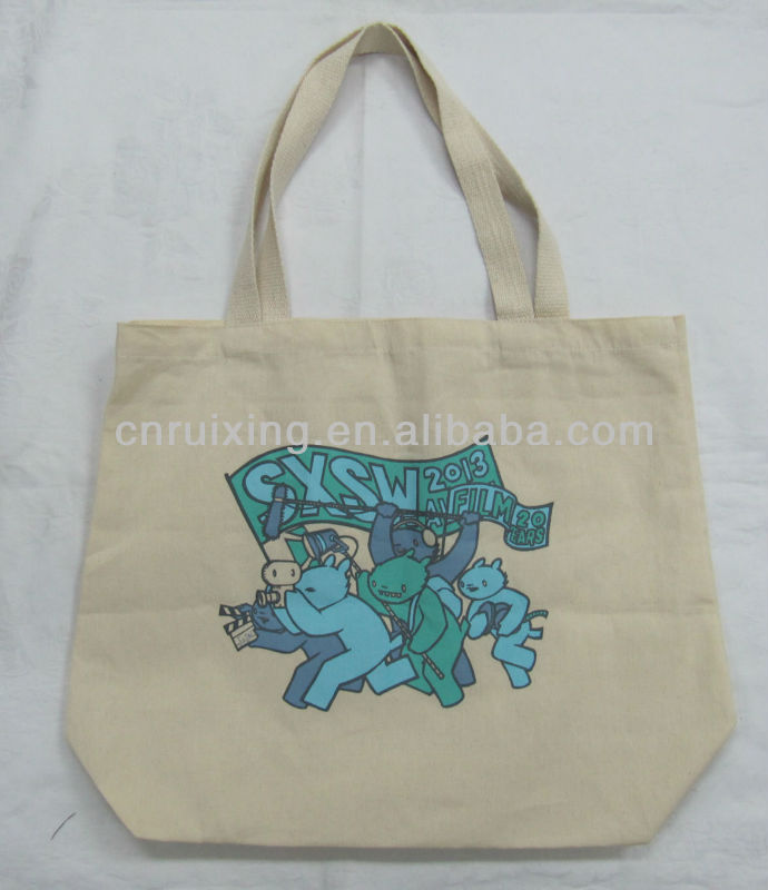 silkscreen printing shopping organic cotton bag