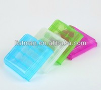 colorful Plastic Case Plastic Transparent 4 x 14500/AA Battery Case