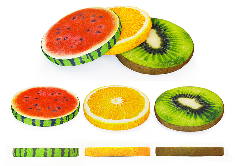 fruit shape pet custom dog bed cover, decorative dog bed cushion, memory foam dog bed