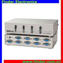 International standard vga switch 1 input 4 output vga switch non-power metal vga switch splitter 4x4