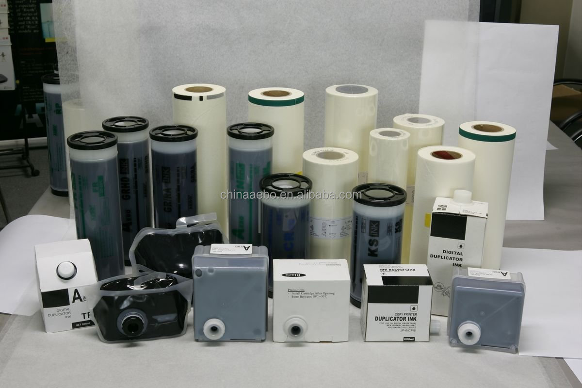 Ink and Master for Ricoh/Gestetner/Duplo