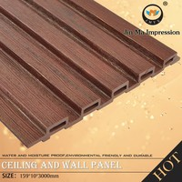 Non - Formaldehyde Emission New Tech Outdoor Decorative WPC Board / Panel
